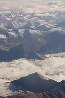 Clouds over mountains, Himalayas, Ladakh, Jammu and Kashmir, India