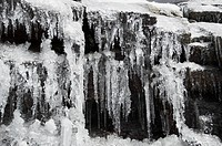 Close_up of a frozen waterfall, Ladakh, Jammu And Kashmir, India