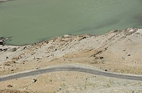 Rivers forming a delta, Indus River, Zanskar River, Ladakh, Jammu and Kashmir, India