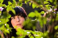 Woman foliage