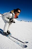 Woman ski