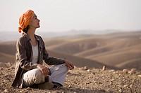 Woman Morocco desert