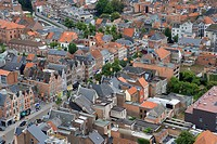 Belgium _ Flanders _ Mechelen _ View from the tower of the Saint Rumbolds Cathedral on Ijzerenleen street