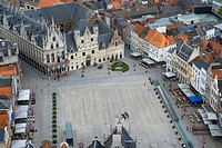 Belgium _ Flanders _ Mechelen _ View from the tower of Saint Rumbolds Cathedral on the Grote Markt