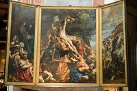 Belgium _ Flanders _ Antwerp _ Cathedral of Our Lady Onze_Lieve_Vrouwekathedraal _ Triptych 'The Erection of the Cross' by Peter Paul Rubens'
