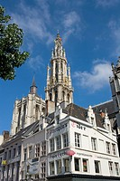 Belgium _ Flanders _ Antwerp _ View of Cathedral of our Lady Onze_Lieve_Vrouwekathedraal