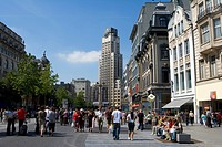 Belgium _ Flanders _ Antwerp _ The Meir _ Shopping _ Pedestrian avenue