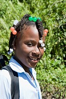 Dominican Republic - North Coast - Samana Peninsula - Schoolgirl (thumbnail)