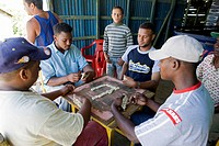 Dominican Republic - Centre - Region El Pico Duarte - Domino Players (thumbnail)