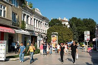 Bulgaria _ Coast of Black Sea _ Varna _ Pedestrianized Street