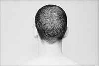 The back of a man´s head