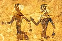 pitture rupestri, tassili, algeria, africa
