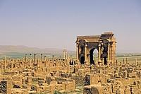 sito archeologico di timgad, algeria, africa
