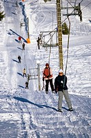 Summit of the Cheiron mountain in the ski station of Greolieres les Neiges (30 miles away from the mediterranean coast) Alpes-Maritimes 06 France Euro...