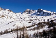 Ski station of Isola 2000 into the Mercantour national park Alpes-Maritimes 06 France Europe