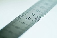Close_up of a metal ruler