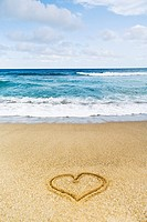 Heart in Sand on Beach