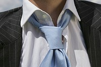 Close_up of a business man's tie