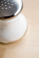 Close_up of salt shaker
