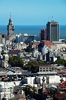 City view from Torre Antel tower, Montevideo, Uruguay