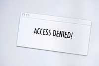 Access denied message on a computer screen