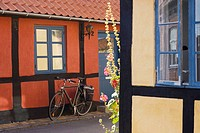 Old windows in Ronne, Bornholm, Denmark