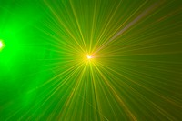 Green and yellow laser lights