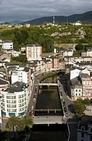 General view of the fishing town of Luarca in Asturias, northern Spain