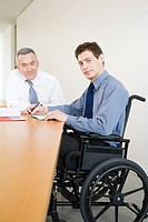 Disabled male office worker (thumbnail)