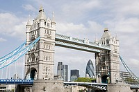 Tower bridge and city of london