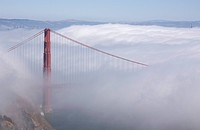 San Francisco, California, USA, Golden gate bridge in fog