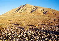 Tindaya mountain. Fuerteventura island, Canary Islands, Spain