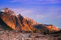 Path of the Glacier Trail Mt Edith Cavell Jasper
