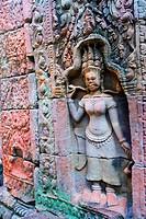 Bas_relief of Hindu myths at Angkor Wat, Angkor, Cambodia