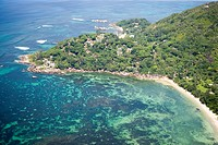 Aerial Photo of Cap Consolation, Praslin Island, Seychelles