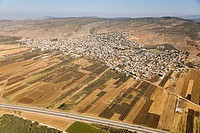 Aerial photograph of the village of Tor'an in the lower Galilee