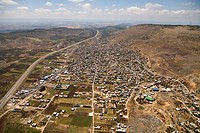 Aerial photograph of the Druse village of Deir El Asad in the western Galilee