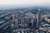 Aerial photograph of downtown Ramat Gan