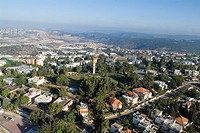 Aerial photograph of Ma´alot in the western Galilee