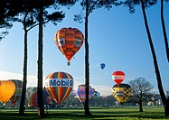 Hot-air ballooning festival in Hagley Park Christchurch New Zealand