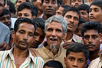 People at market, Paharpur, Bangladesh