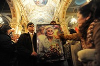 Burial of Hortensia Bussi 1914-2009, wife of Chilean president Salvador Allende Santiago, Chile june 20, 2009