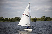 Sailing boat on lake
