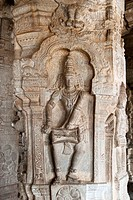Sculpture in a column - Veerabhadra Temple in Lepakshi ,Andhra Pradesh is famous for its artistic temples, which date back to the 16th century