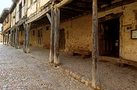 Soportales, Calata&#241;azor, medieval village, Soria province, Castile-Leon Spain