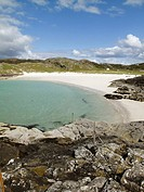 Sandy beach at Achmelvich in north western Scotland