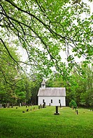 A church and graveyard in Smoky Mountain National Park