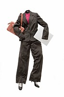 A female business suit facing the camera