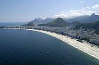 See Aerial, Copacabana, Rio de Janeiro, Brazil