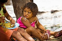 Children Eating, Meal, Terra Preta Community, Negro River, Iranduba, Amazonas, Brazil